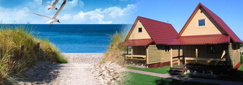 Drewniane domki nad morzem oraz apartamenty Corleone Ostrowo